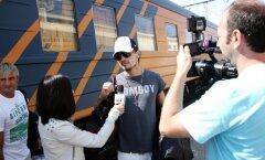 Фоторепортаж: Прибытие российских звезд в Ригу