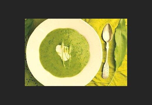 Рецепты постных блюд:суп из черемши
